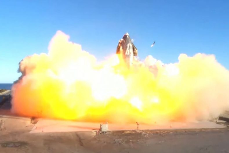SpaceX's Starship prototype explodes during a landing attempt 1
