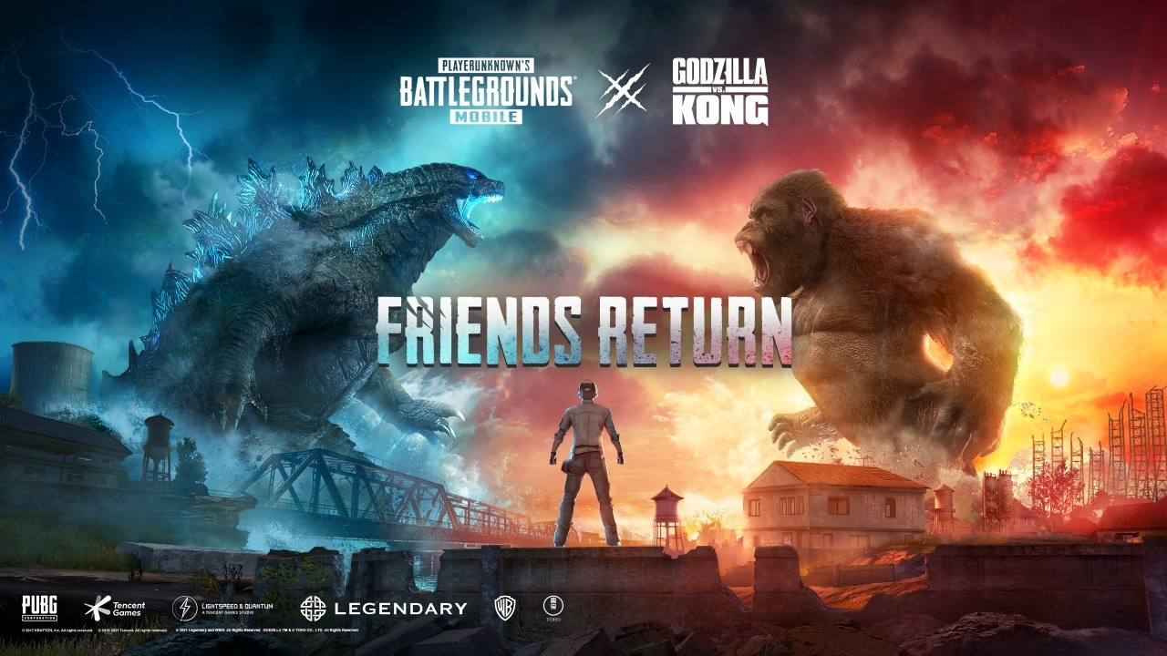 CINEMATIC KINGS GODZILLA AND KONG SET TO LAND IN PUBG MOBILE IN UPCOMING EXCLUSIVE IN-GAME COLLABORATION WITH LEGENDARY ENTERTAINMENT